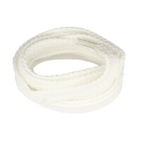 White Flat Shoe Laces