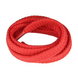 Red Flat Shoe Laces