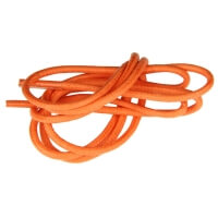 Orange Round Waxed Shoe Laces