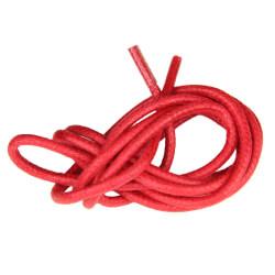 Lacets ronds cirés Rouge
