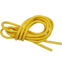 Yellow Round Waxed Shoe Laces