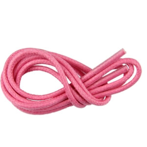 Pink Round Waxed Shoe Laces