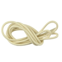 Ivory Round Waxed Shoe Laces