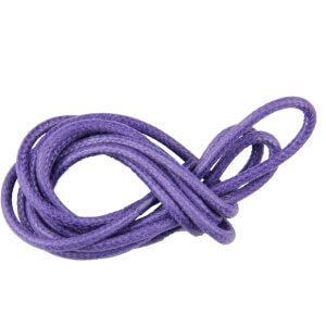 Violet Round Waxed Shoe Laces