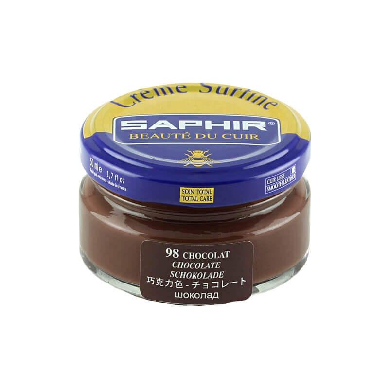 Cirage chocolat SAPHIR - Crème Surfine