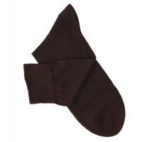 Brown Cotton Lisle Socks