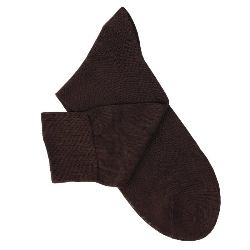 Chaussettes maille rasée marron