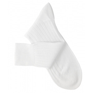 White Lisle Socks