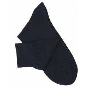 Chaussettes maille rasée bleu marine