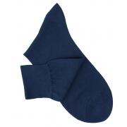 Chaussettes maille rasée bleu pétrole