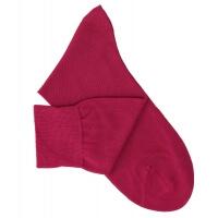 Chaussettes lisses fil d'Ecosse cerise