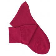 Chaussettes maille rasée cerise
