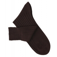 Dark Brown Lisle Socks