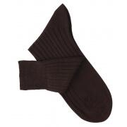 Chaussettes fil d'Ecosse marron foncé