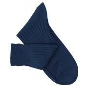 Chaussettes fil d'Ecosse bleu pétrole