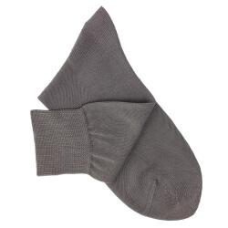Chaussettes lisses fil d'Ecosse gris