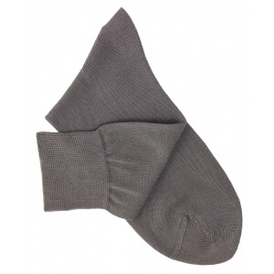 Grey Cotton Lisle Socks