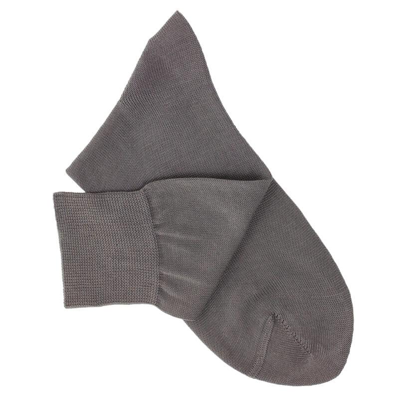 Chaussettes maille rasée gris