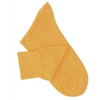 Chaussettes lisses fil d'Ecosse jaune orangé