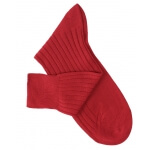 Red Lisle Socks