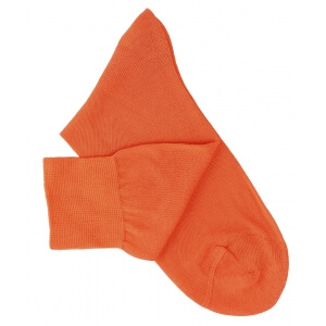 Orange Cotton Lisle Socks
