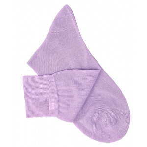 Mauve Cotton Lisle Socks