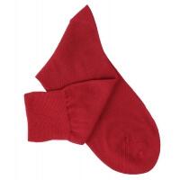 Chaussettes lisses fil d'Ecosse rouge