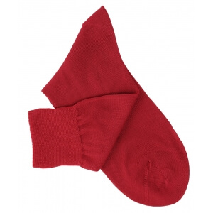 Red Cotton Lisle Socks