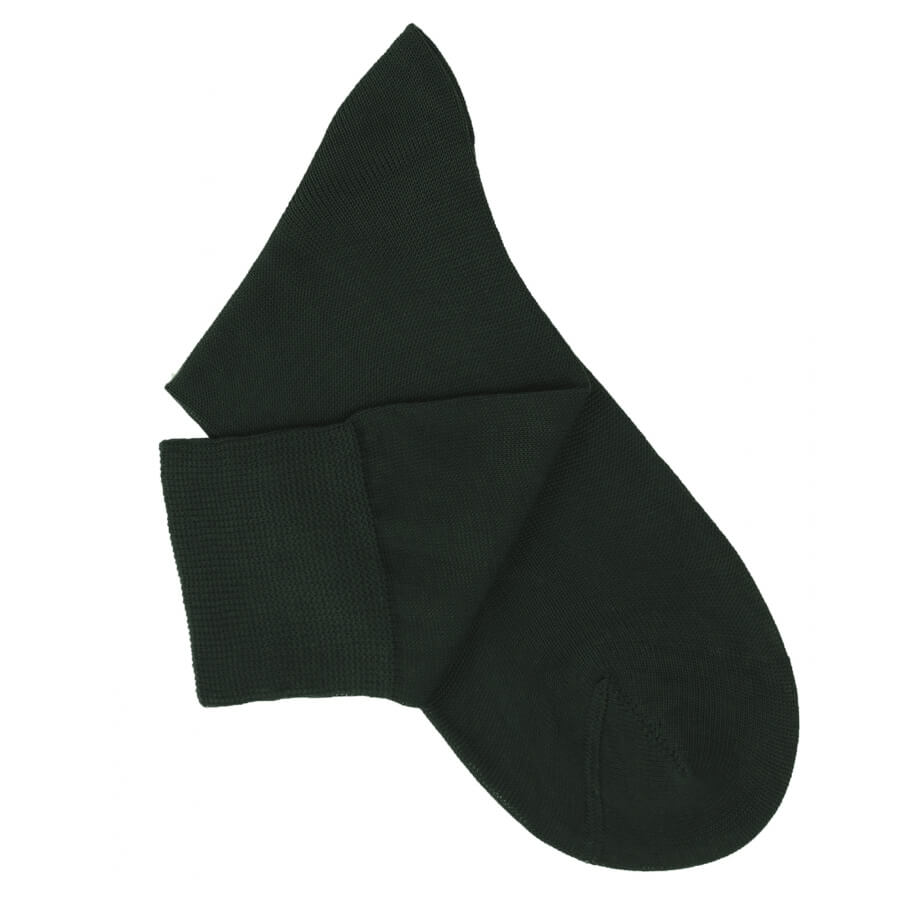 Dark Green Cotton Lisle Socks