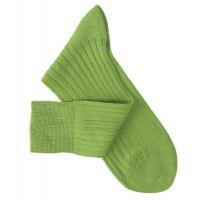 Chaussettes à côtes fil d'Ecosse vert clair