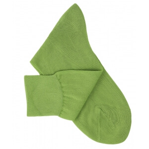 Light Green Cotton Lisle Socks
