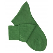 Garden Green Cotton Lisle Socks
