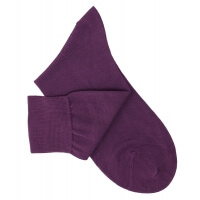 Purple Cotton Lisle Socks