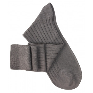 Grey Lisle Knee High Socks