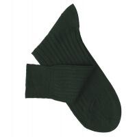 Chaussettes à côtes fil d'Ecosse vert bouteille