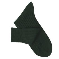 Chaussettes fil d'Ecosse vert bouteille