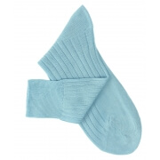 Chaussettes fil d'Ecosse turquoise