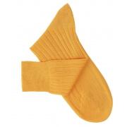 Chaussettes fil d'Ecosse jaune orangé