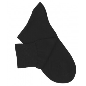Black Cotton Lisle Socks