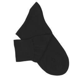 Black Cotton Lisle Socks