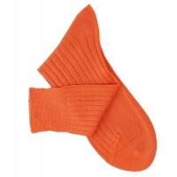 Chaussettes à côtes fil d'Ecosse orange