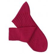 Chaussettes fil d'Ecosse cerise