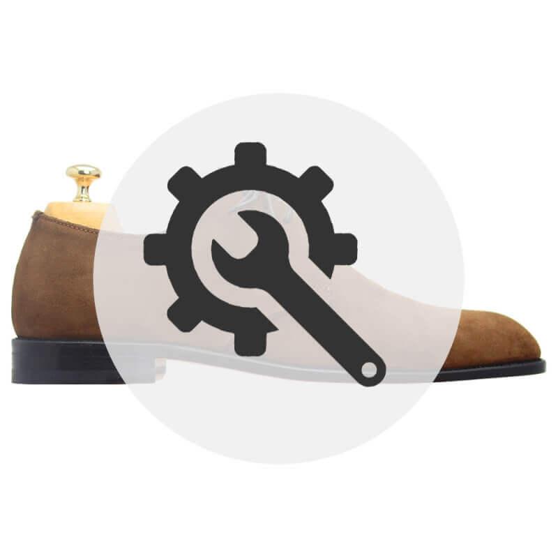 Rénovation chaussures daim