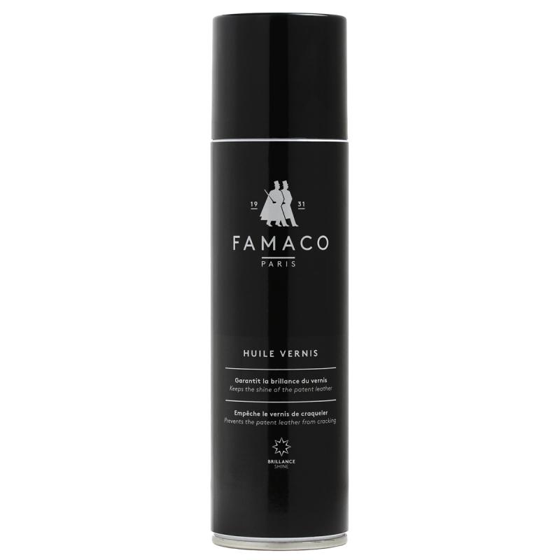 Spray entretien cuir verni Noir