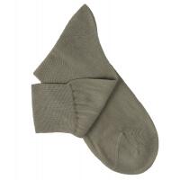 Chaussettes lisses fil d'Ecosse gris taupe