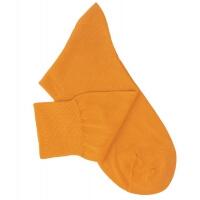 Chaussettes lisses fil d'Ecosse jaune moutarde