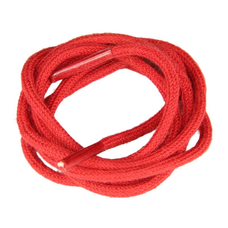Lacets de couleur : rouge - 100% coton