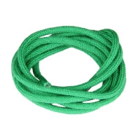 Green Fine Round Shoe Laces