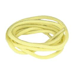 Lacets de couleur : jaune pâle - 100% coton