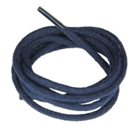 Navy Blue Fine Round Shoe Laces